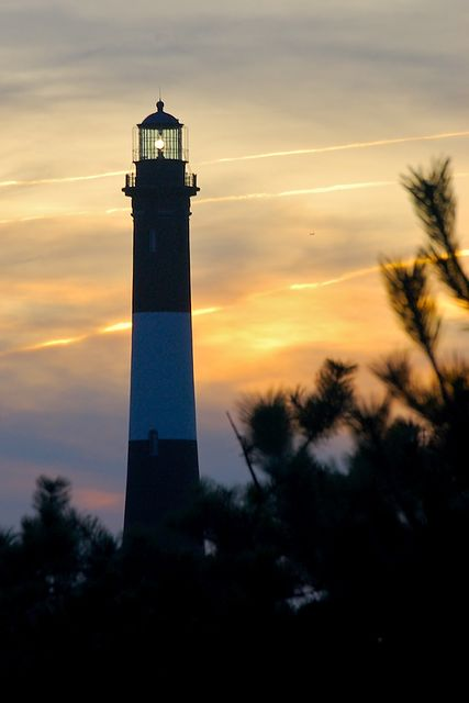 Fire Island Lighthouse at Dusk